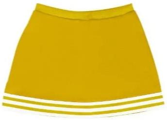 Bright Gold & White A-Line Cheer Skirt