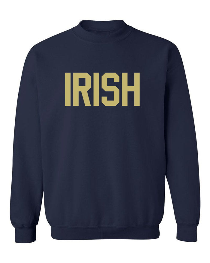 Irish Navy Crew Neck Sweatshirt
