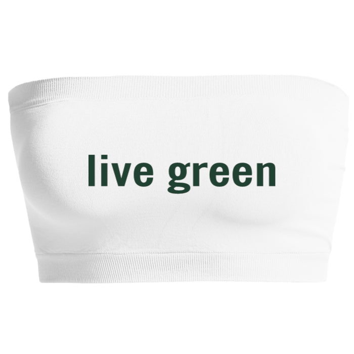 Live Green White Seamless Bandeau