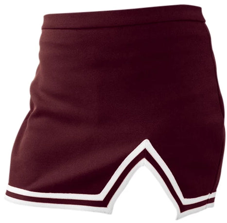Maroon A-Line Notched Cheer Skirt