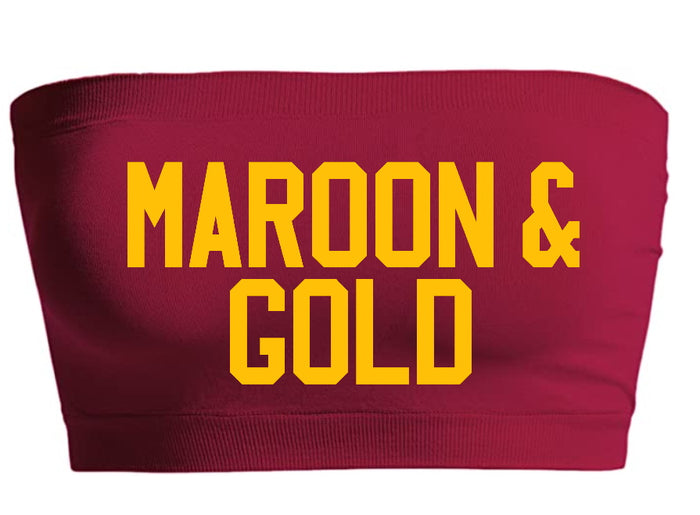 Maroon & Gold Seamless Bandeau