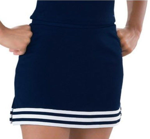 Navy & White A-Line Cheer Skirt
