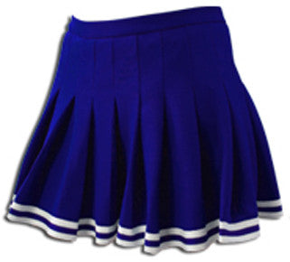 Navy & White Sparkle Trim Pleated Cheer Skirt