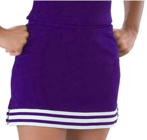 Purple & White A-Line Cheer Skirt