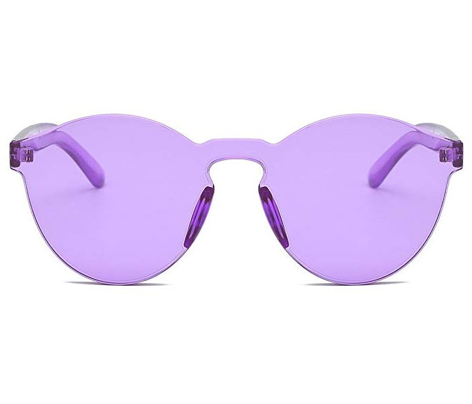 Purple Frameless Candy Color Glasses