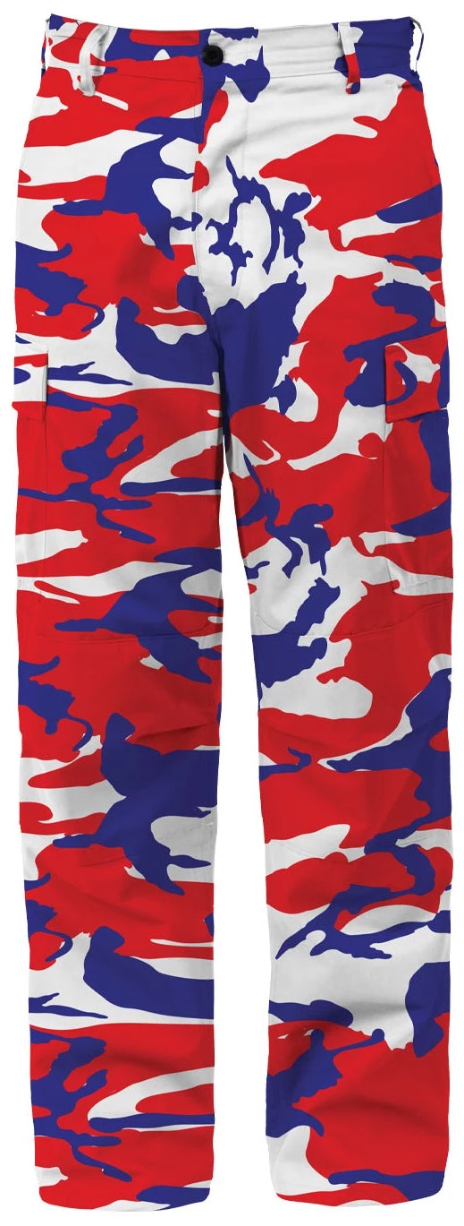 The Real Red, White & Blue Camo Pants