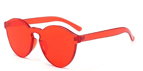 Red Frameless Candy Colored Glasses