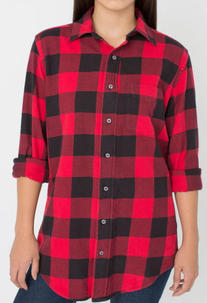 Black Friday Red & Black Plaid Flannel Shirt