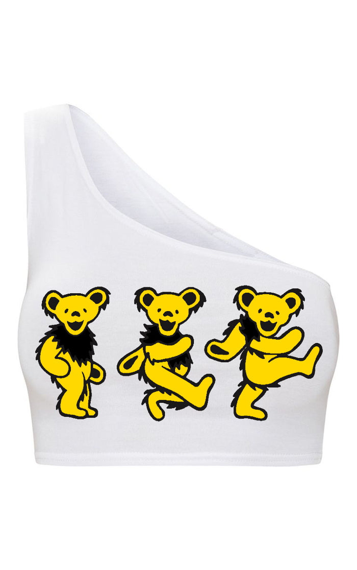 Game Day Teddies One Shoulder Sports Bra