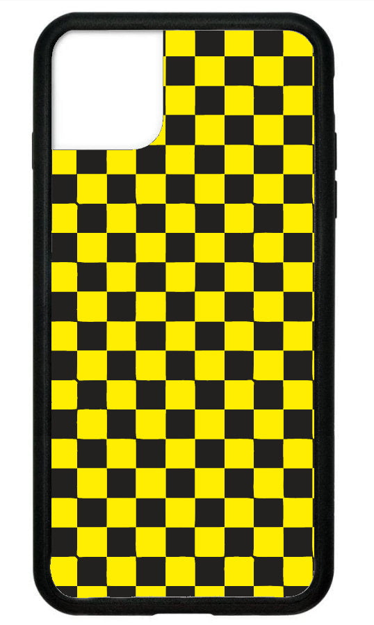 Yellow Checkerboard IPhone Case