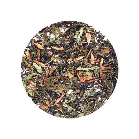 Green Tea, Fire-flame bush, Mint