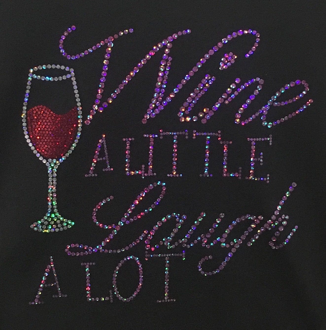 Wine A Little.... Long Sleeve V-Neck Shirt