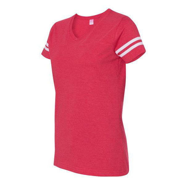 ladies-vneck-football-tee