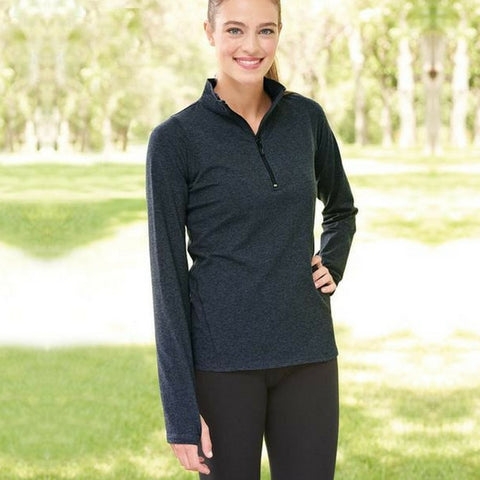 Quarter Zip Pull Over - Girls and Ladies Jr. Fit