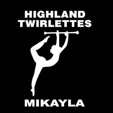 Twirler with Straight Baton Car Window Decal