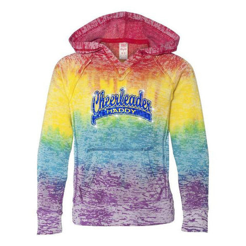 V-Notch Rainbow Hooded Sweatshirt - Youth and Ladies