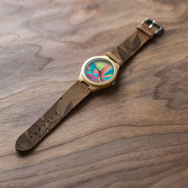 Wood + Leather Designer Watches: Sparks