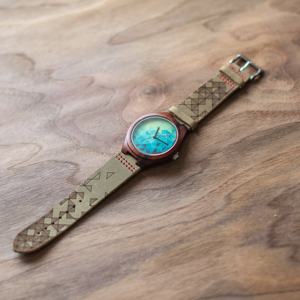Wood + Leather Designer Watches: Deep Forest