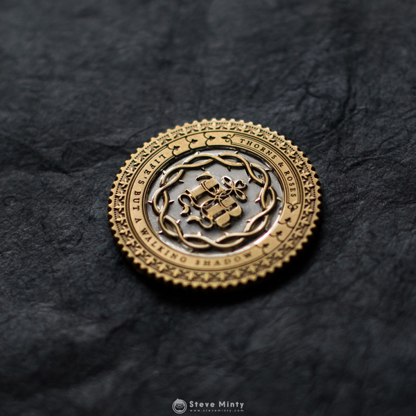Thorns Engraved Coin