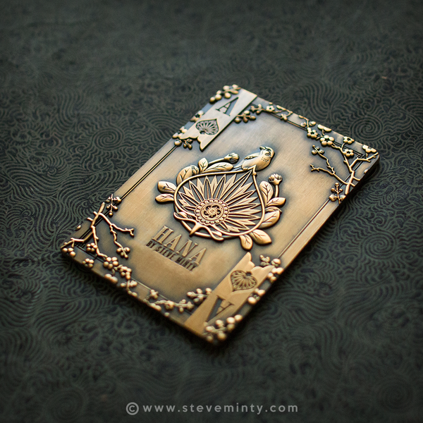 Hana Antique Gold Metal Card