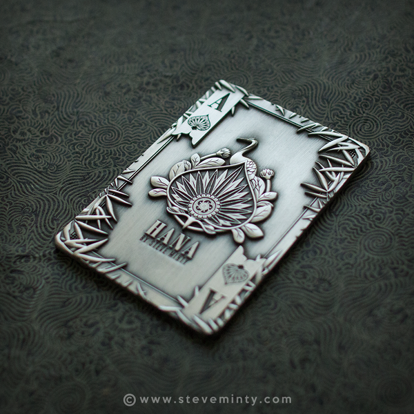 Hana Antique Silver Metal Card