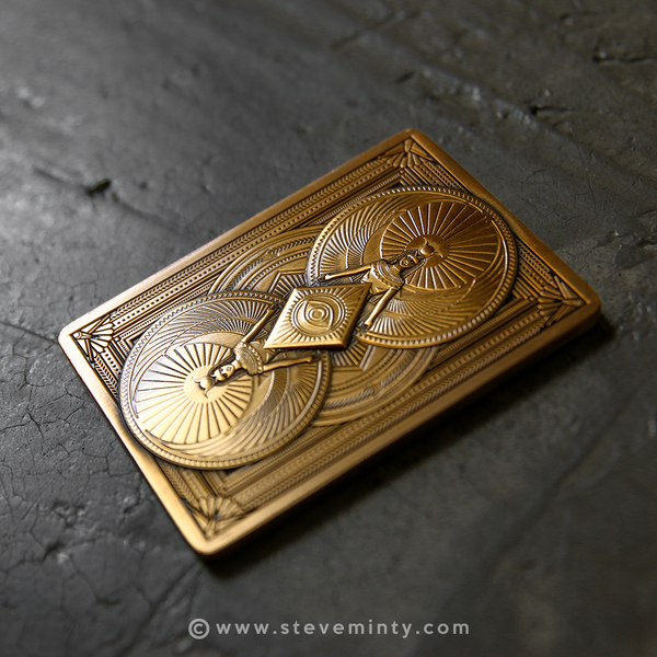 Osiris Antique Gold Metal Card