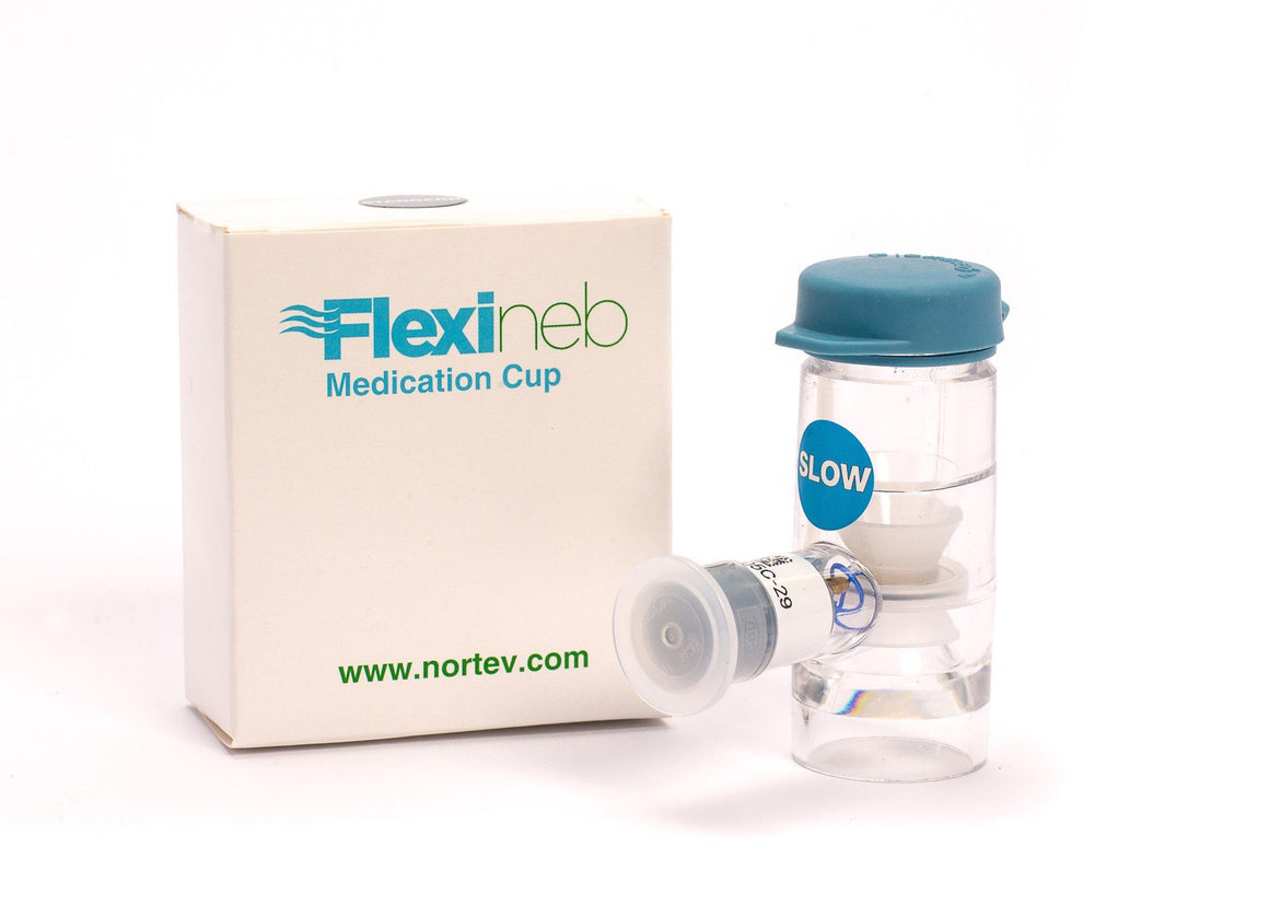 Hay Accessories - Flexineb Nebuliser Medication Cup / Drug Chamber Unit Slow Flow - Blue