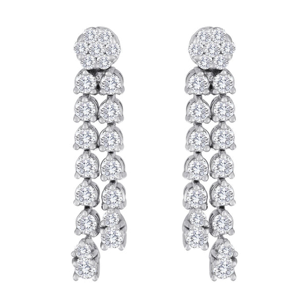 Diamond Dangle Tassle Earrings