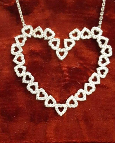 Hearts On Heart Necklace