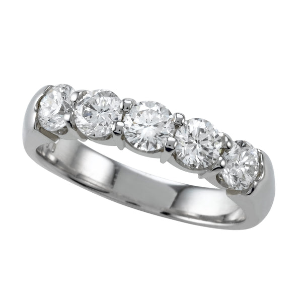 5 Stone Ring Shared Prong 1.0ctw