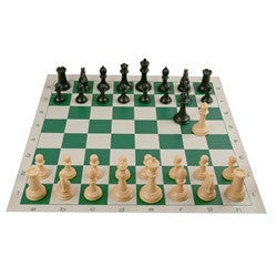 Vinyl Roll-Up Chess Set #981 Board Game - Davis Distributors Inc