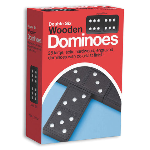 Double 6 Wooden Dominoes #106 Dominoes - Davis Distributors Inc