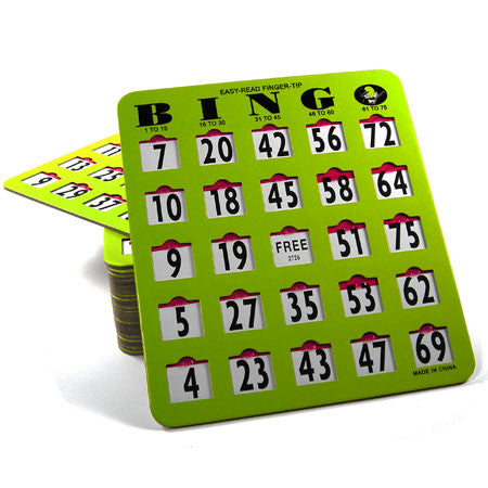 Fingertip Slide Cards #BINGOCARDS Bingo - Davis Distributors Inc