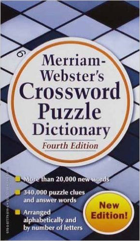 Merriam Webster's Crossword Puzzle Dictionary #DIC8 - Davis Distributors Inc
