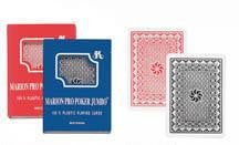Playing Cards- Marion Pro Jumbo 100% Plastic Card Game - Davis Distributors Inc