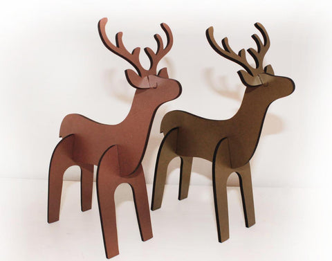 christmas deer decor 2pk - Christmas Deer Decor