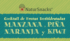 Cocktail 4 frutas deshidratadas naturales - 250gr bolsa familiar