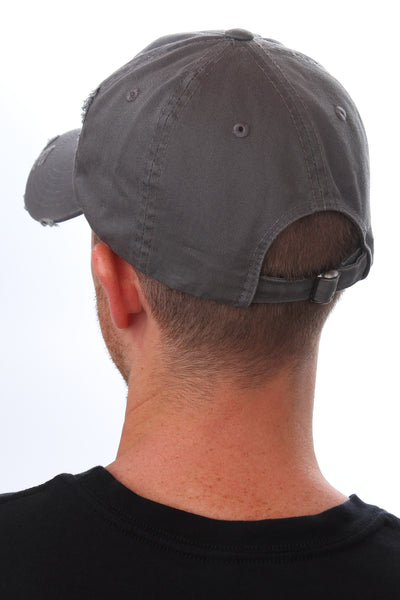distressed Griffon brand hat