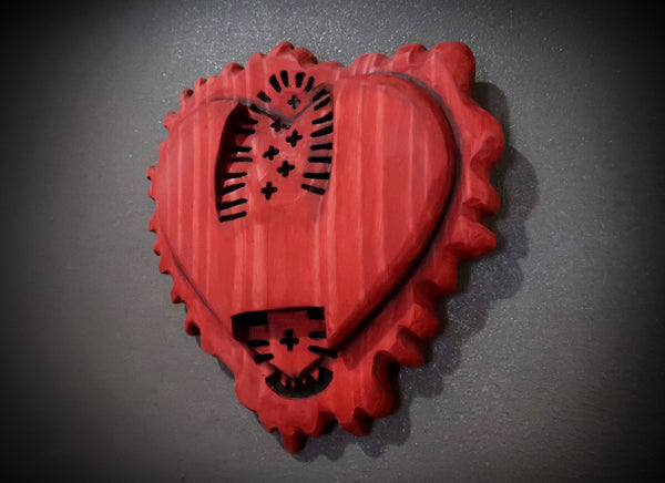 Stomped Heart Wooden Wallhanging