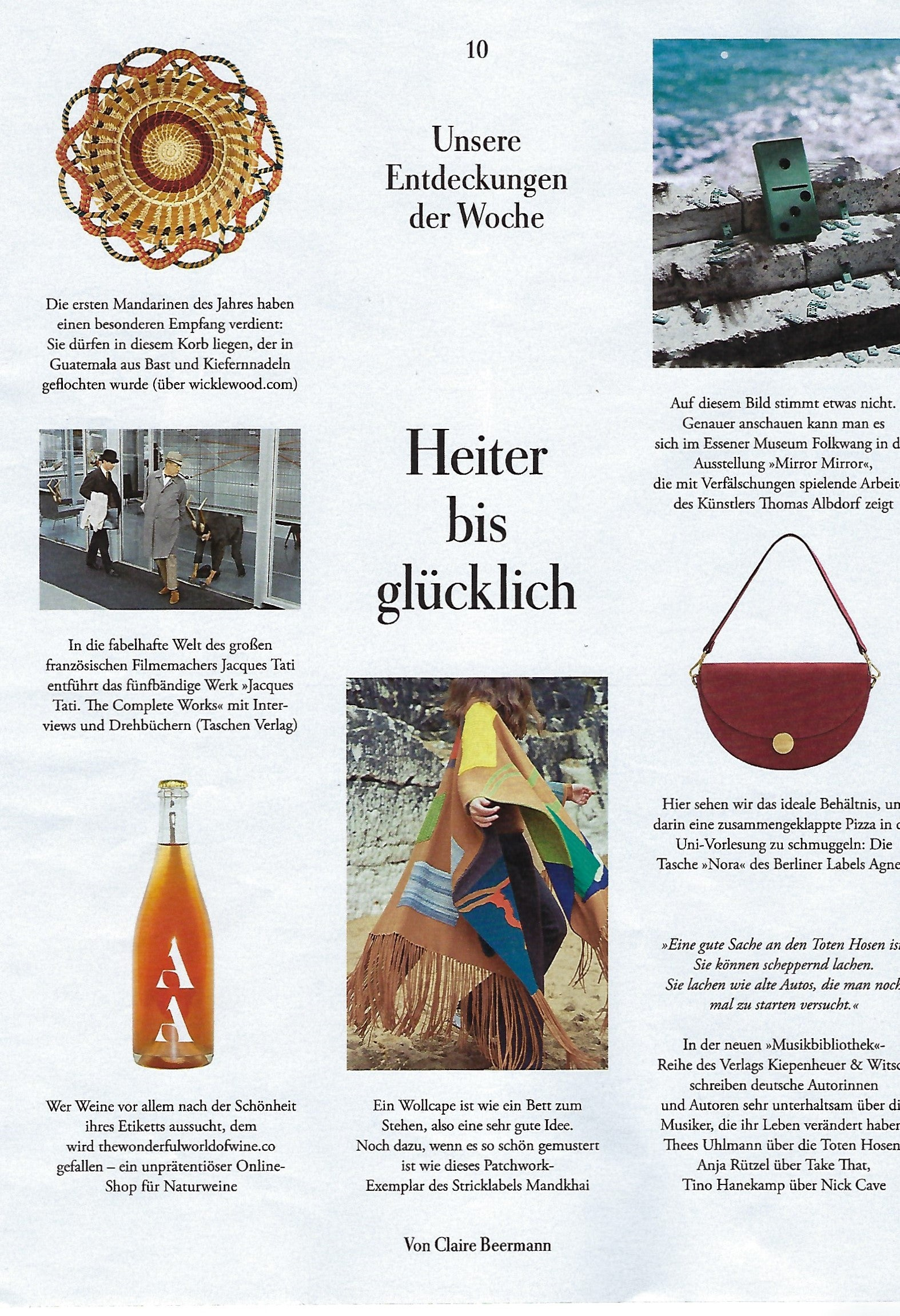 wicklewood baskets featured in zeitmagazin Germany