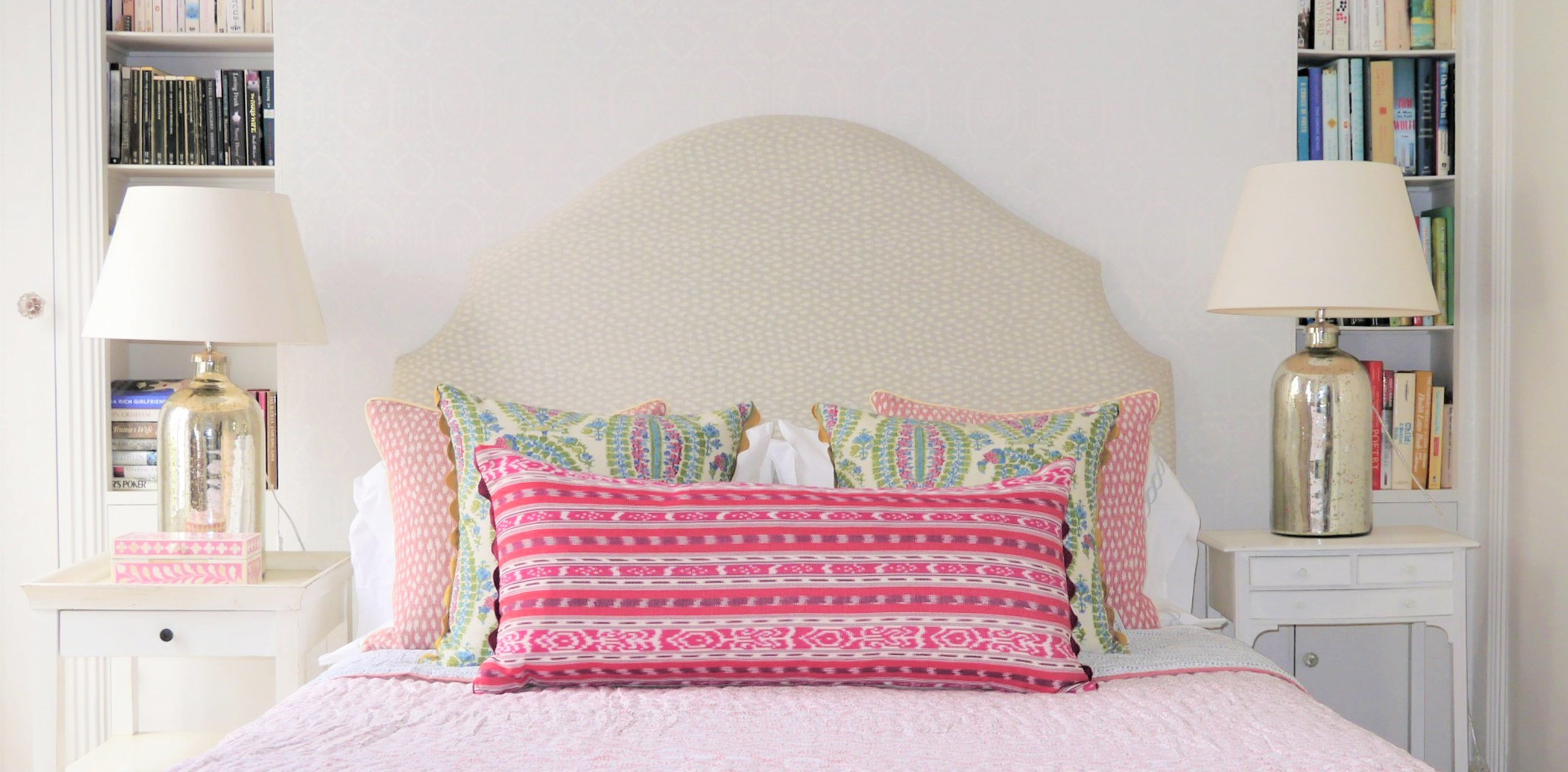 Colourful reversible throw cushions for your bed and sofa