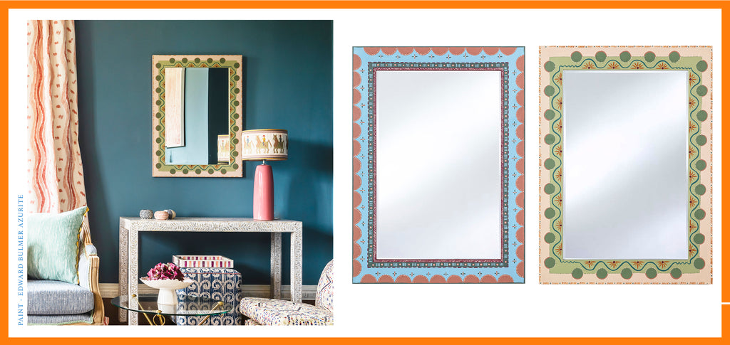 Amy Balfour X Wicklewood - hand-painted colourful mirrors inspired by the Bloomsbury Group