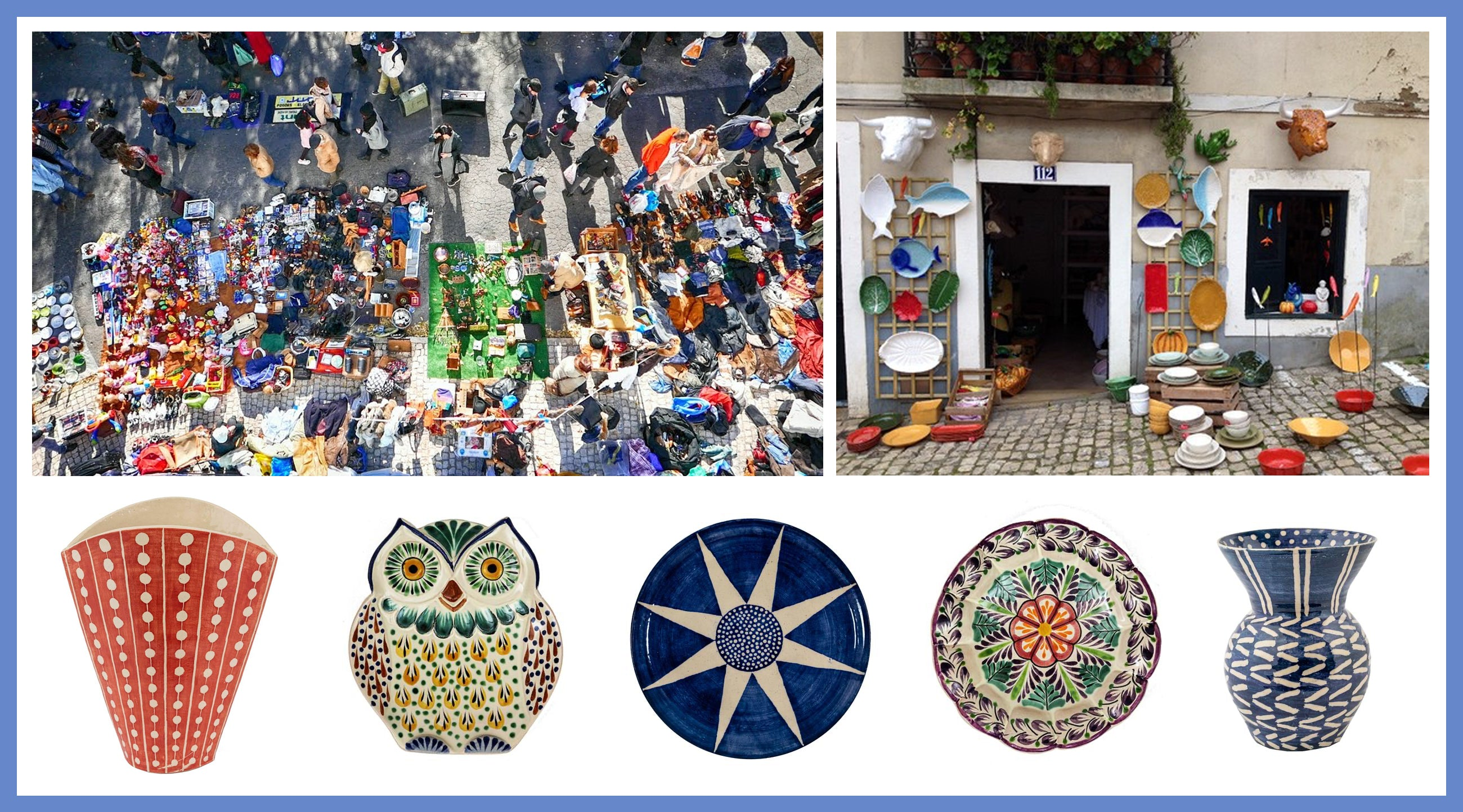 Wicklewood ceramics and inspiration images of Lisbon