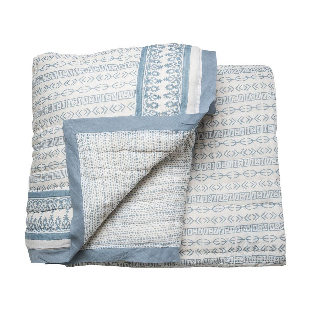 Tapa Star Quilt in Blue by Wicklewood