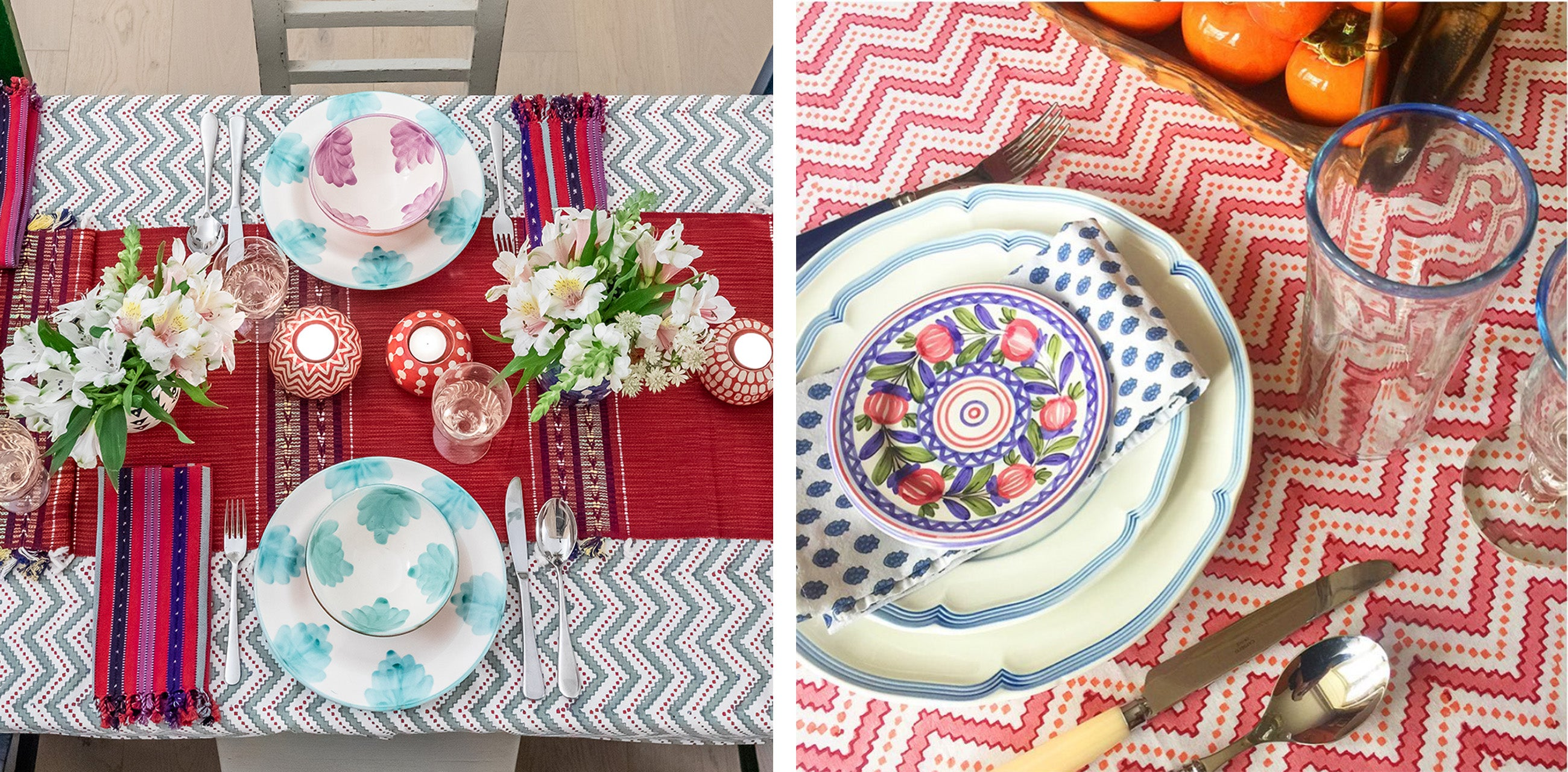 Wicklewood's Valentine's Day Table Laying Tips - how to add colour and pattern to your table top