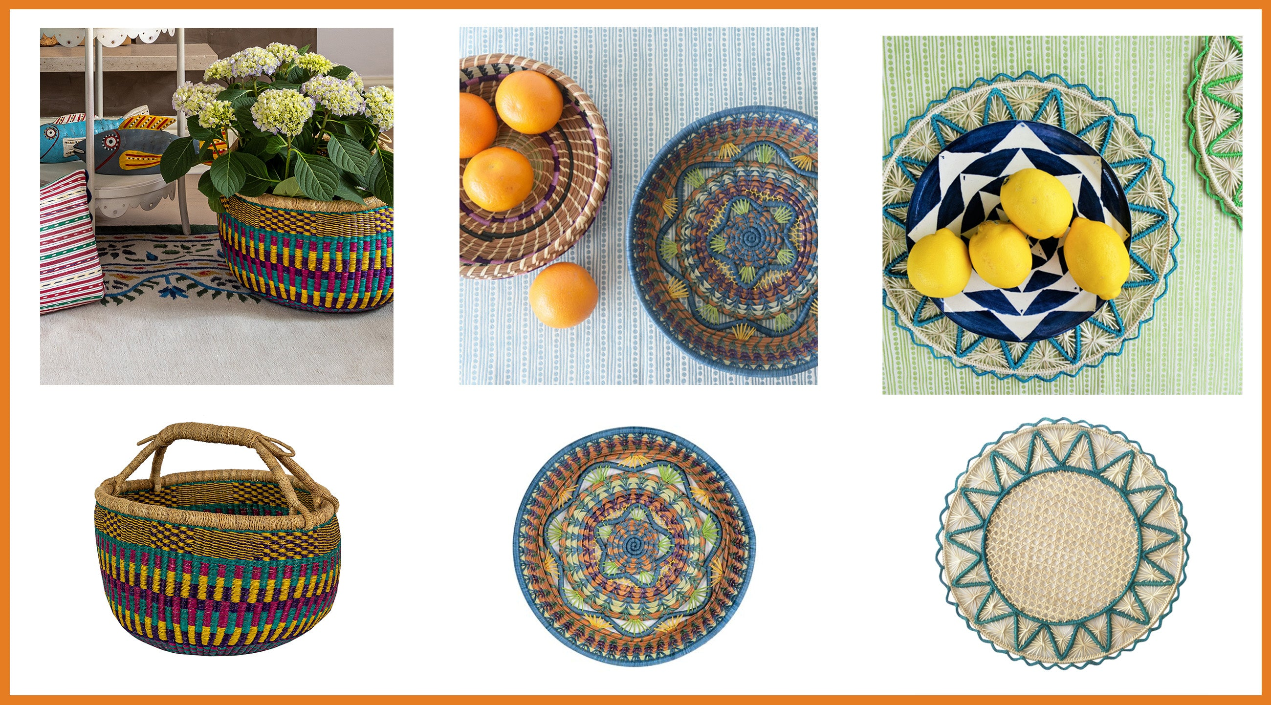 Shop wicklewood decorative accents with natural fibers handcrafted in South America