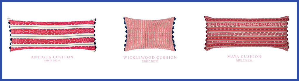 Wicklewood House Guest interview with artist Rose Electra Harris and her favourite Wicklewood cushions