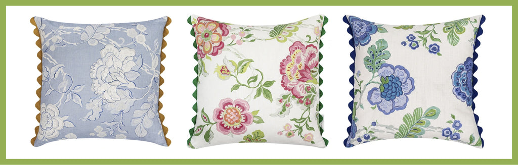 Wicklewood colourful throw and scatter cushion with floral and geometric motifs