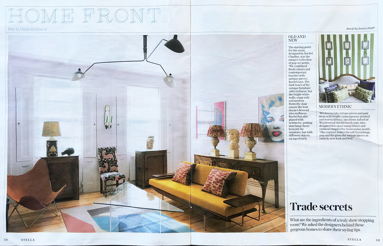 Wicklewood Press - Stella - Sunday Telegraph Magazine, Home Front feature.