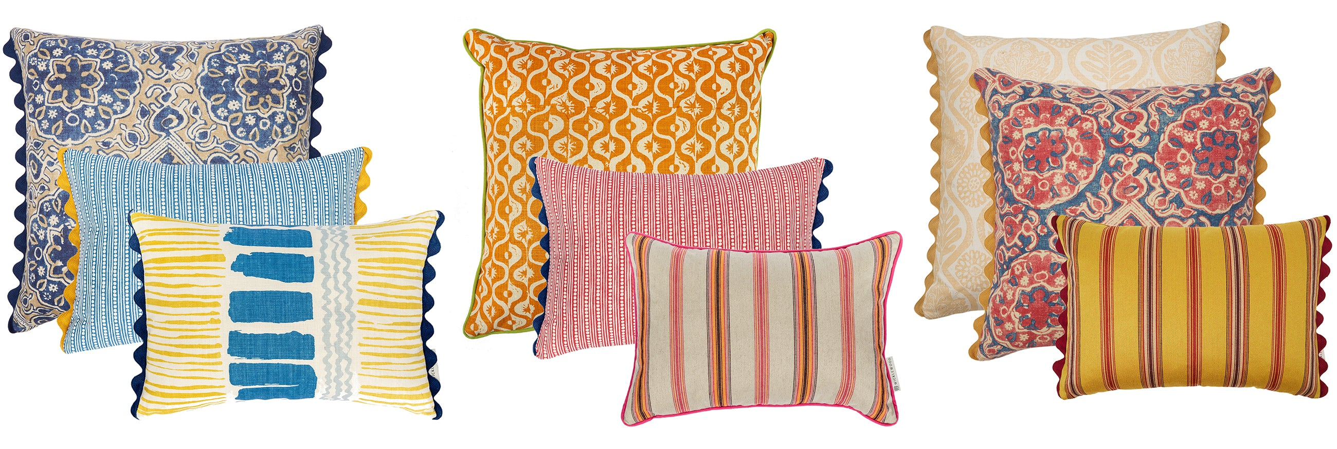 Wicklewood summer cushion sets - making interior design easy with our pre-styled sets of cushions